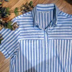 Classic Striped Button Up Shirt